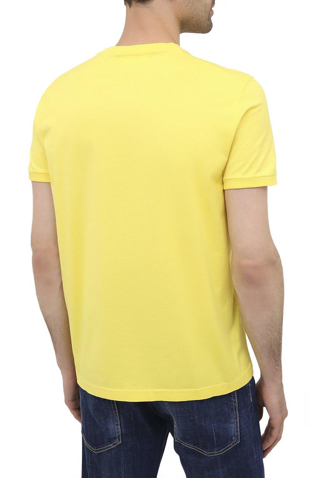 Мужская хлопковая футболка DSQUARED2 желтого цвета, арт. S74GD0756/S22427 | Фото 4