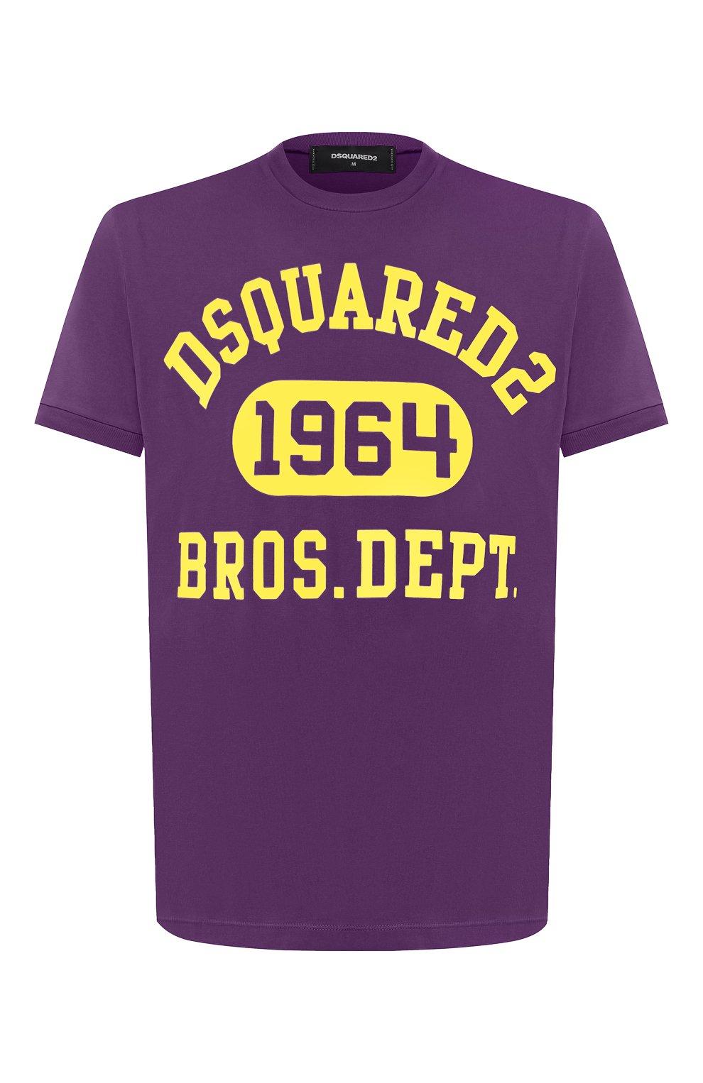 Мужская хлопковая футболка DSQUARED2 фиолетового цвета, арт. S74GD0759/S22427 | Фото 1