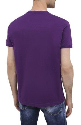 Мужская хлопковая футболка DSQUARED2 фиолетового цвета, арт. S74GD0759/S22427 | Фото 4