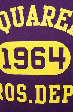 Мужская хлопковая футболка DSQUARED2 фиолетового цвета, арт. S74GD0759/S22427 | Фото 5