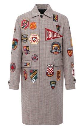 Мужской хлопковое пальто DSQUARED2 разноцветного цвета, арт. S74AA0219/S52993 | Фото 1