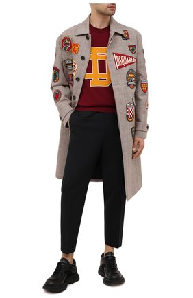 Мужской хлопковое пальто DSQUARED2 разноцветного цвета, арт. S74AA0219/S52993 | Фото 2