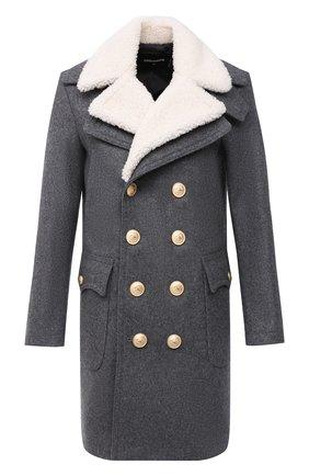 Мужской шерстяное пальто DSQUARED2 серого цвета, арт. S74AA0223/S53103 | Фото 1