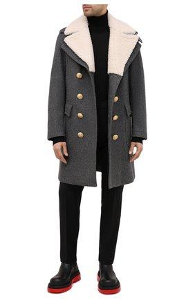 Мужской шерстяное пальто DSQUARED2 серого цвета, арт. S74AA0223/S53103 | Фото 2