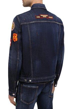 Мужская джинсовая куртка DSQUARED2 синего цвета, арт. S74AM1079/S30664 | Фото 4