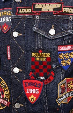Мужская джинсовая куртка DSQUARED2 синего цвета, арт. S74AM1079/S30664 | Фото 5