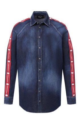 Мужская джинсовая рубашка DSQUARED2 синего цвета, арт. S74DM0411/S30341 | Фото 1