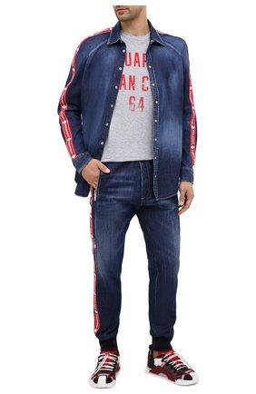 Мужская джинсовая рубашка DSQUARED2 синего цвета, арт. S74DM0411/S30341 | Фото 2