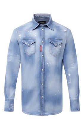 Мужская джинсовая рубашка DSQUARED2 синего цвета, арт. S74DM0452/S30341 | Фото 1