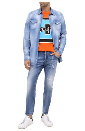 Мужская джинсовая рубашка DSQUARED2 синего цвета, арт. S74DM0452/S30341 | Фото 2