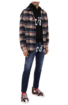 Мужская рубашка DSQUARED2 разноцветного цвета, арт. S74DM0466/S53020 | Фото 2
