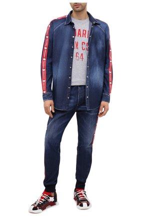 Мужские джинсы DSQUARED2 синего цвета, арт. S74KB0448/S30309 | Фото 2
