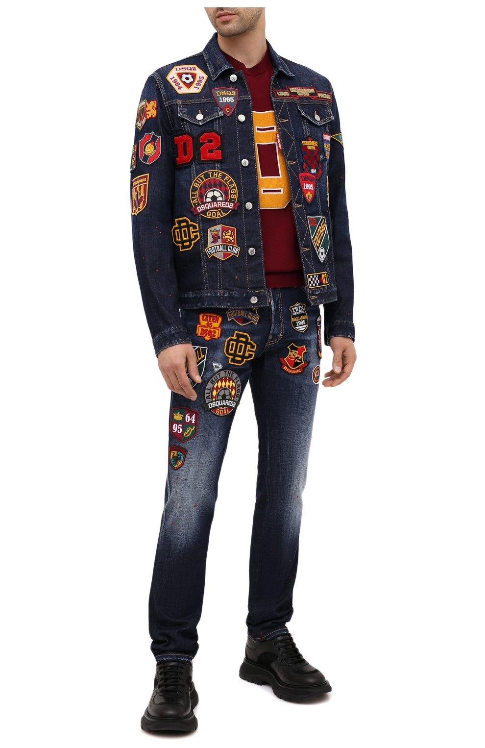 Мужские джинсы DSQUARED2 синего цвета, арт. S74LB0811/S30664 | Фото 2