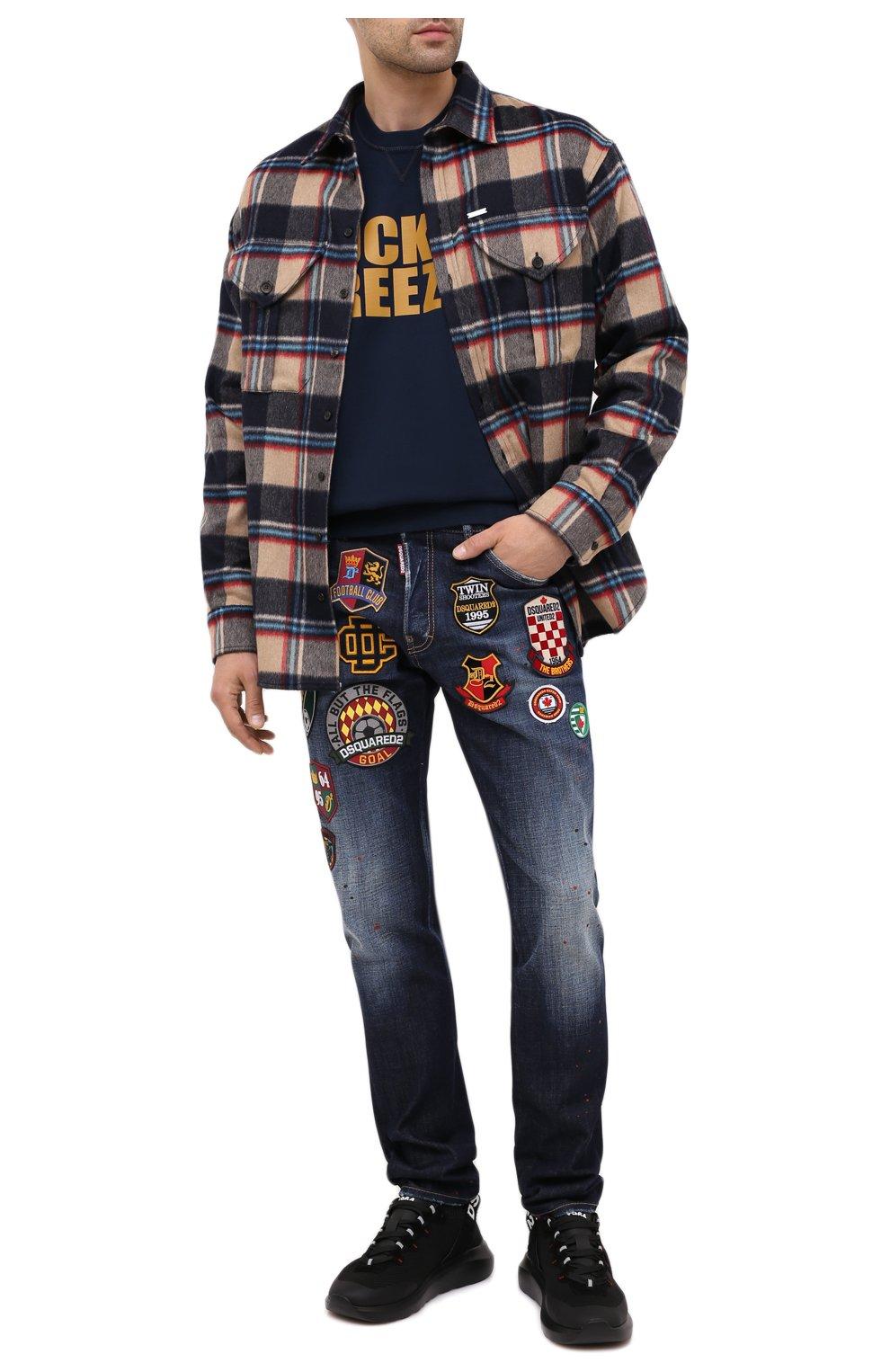 Мужские джинсы DSQUARED2 синего цвета, арт. S74LB0811/S30664 | Фото 3