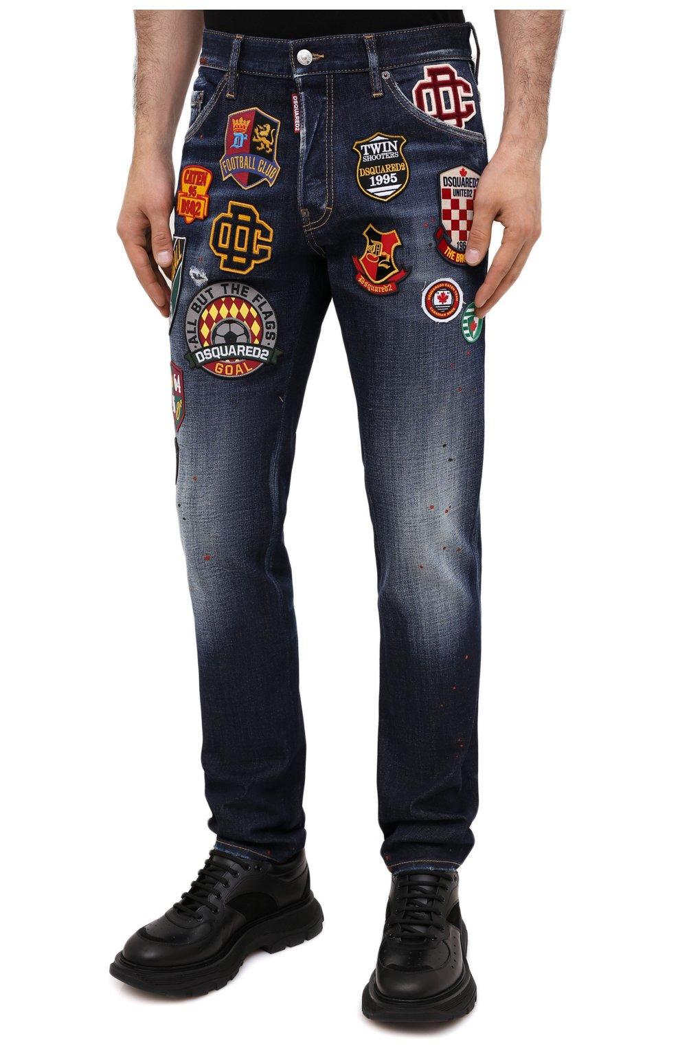 Мужские джинсы DSQUARED2 синего цвета, арт. S74LB0811/S30664 | Фото 4