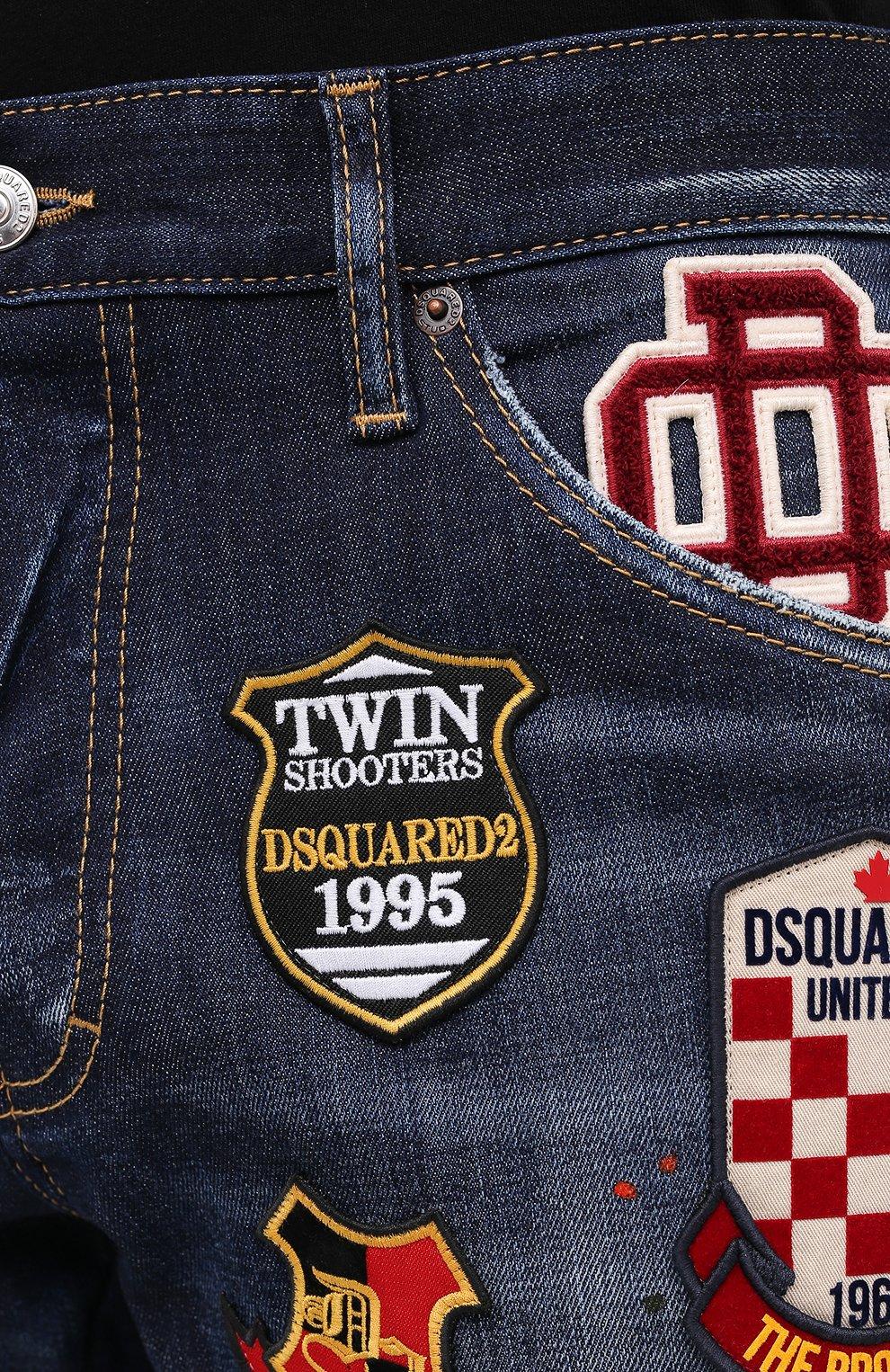 Мужские джинсы DSQUARED2 синего цвета, арт. S74LB0811/S30664 | Фото 6