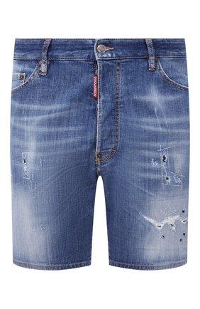 Мужские джинсовые шорты DSQUARED2 синего цвета, арт. S74MU0607/S30342 | Фото 1