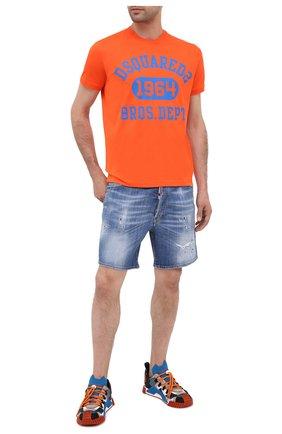 Мужские джинсовые шорты DSQUARED2 синего цвета, арт. S74MU0607/S30342 | Фото 2