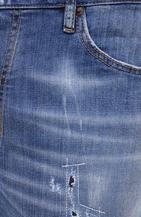 Мужские джинсовые шорты DSQUARED2 синего цвета, арт. S74MU0607/S30342 | Фото 5