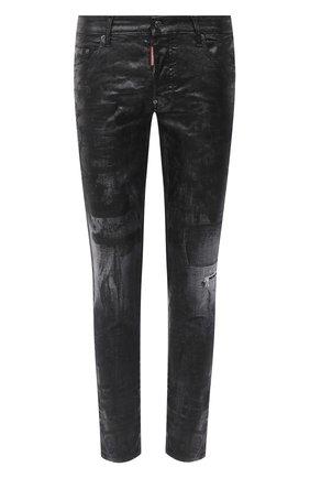 Мужские джинсы DSQUARED2 черного цвета, арт. S79LA0007/S30357 | Фото 1