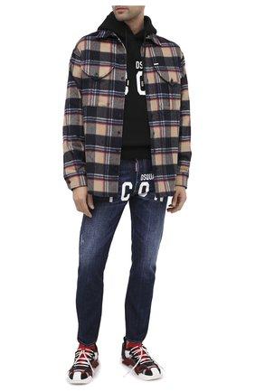 Мужские джинсы DSQUARED2 синего цвета, арт. S79LA0012/S30309 | Фото 3