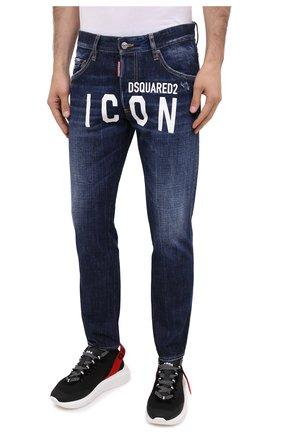 Мужские джинсы DSQUARED2 синего цвета, арт. S79LA0012/S30309 | Фото 4