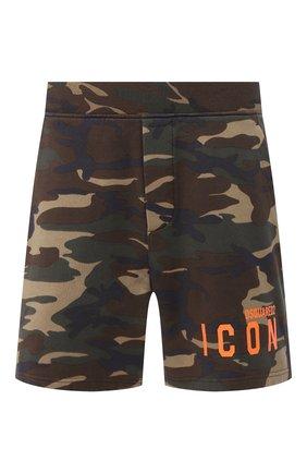 Мужские хлопковые шорты DSQUARED2 хаки цвета, арт. S79MU0008/S25469 | Фото 1