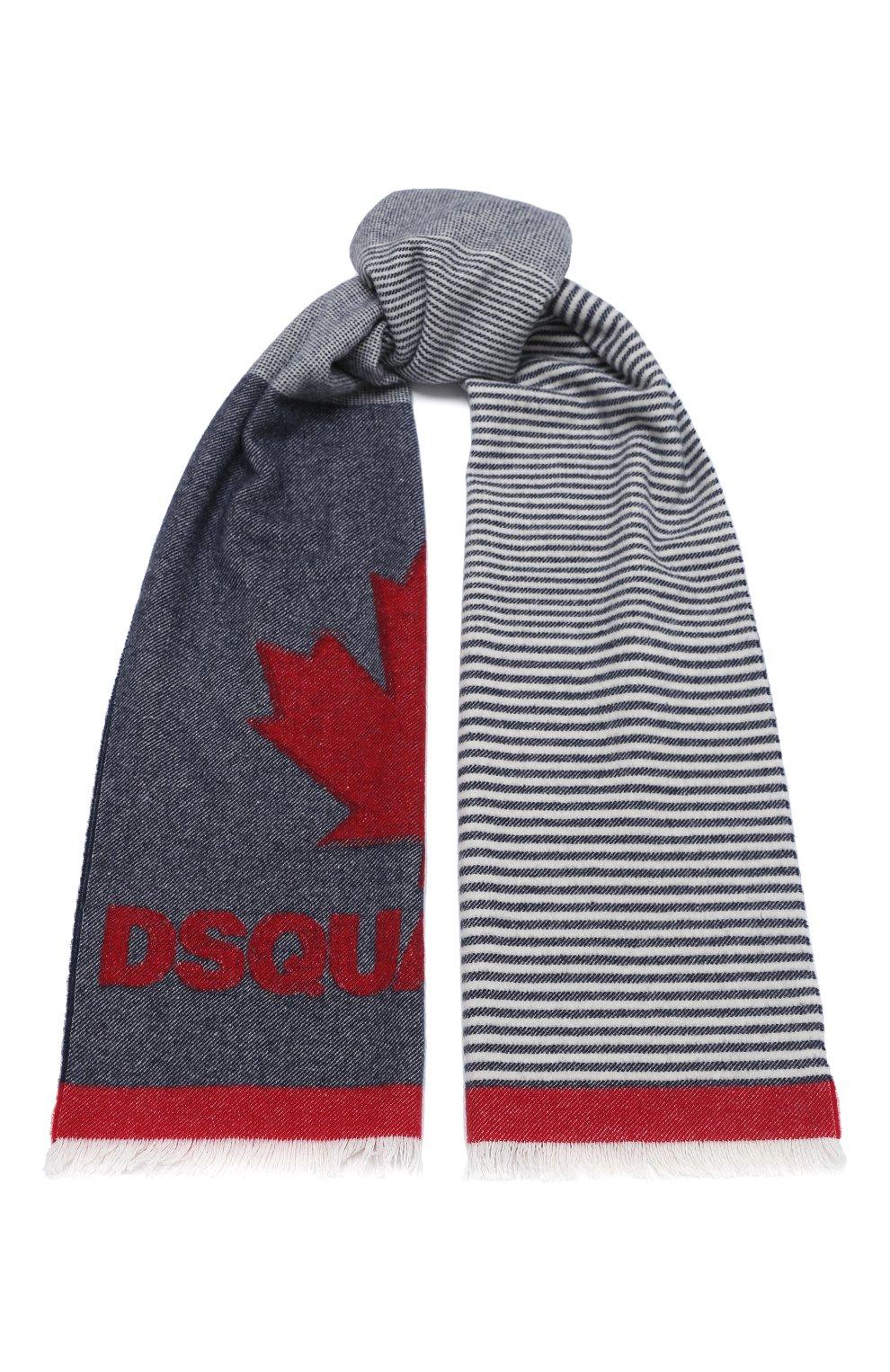Мужской шерстяной шарф DSQUARED2 разноцветного цвета, арт. SCW0012 05M01040 | Фото 1