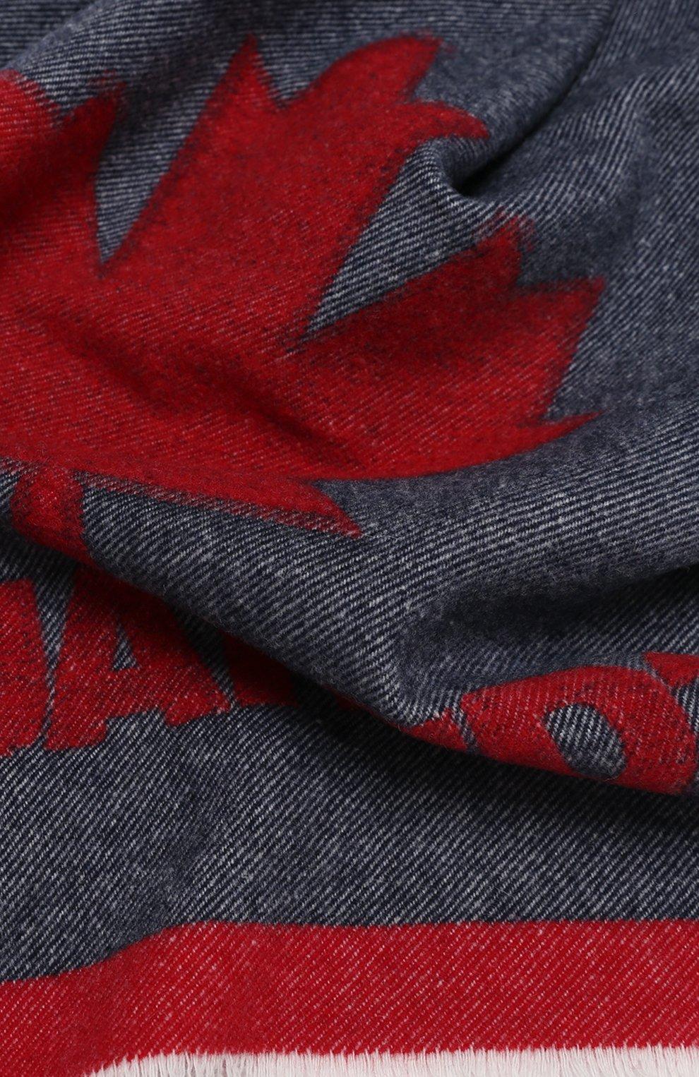 Мужской шерстяной шарф DSQUARED2 разноцветного цвета, арт. SCW0012 05M01040 | Фото 2