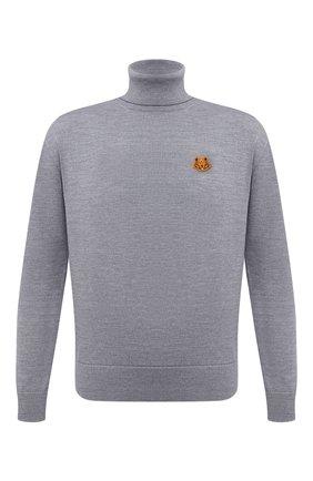Мужской шерстяной свитер KENZO серого цвета, арт. FA65PU5383TA | Фото 1