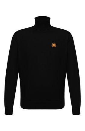 Мужской шерстяной свитер KENZO черного цвета, арт. FA65PU5383TA   Фото 1