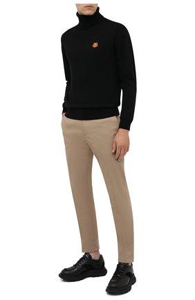 Мужской шерстяной свитер KENZO черного цвета, арт. FA65PU5383TA   Фото 2