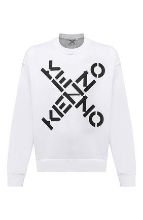 Мужской хлопковый свитшот kenzo sport KENZO белого цвета, арт. FA65SW5214MS | Фото 1