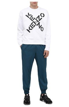 Мужской хлопковый свитшот kenzo sport KENZO белого цвета, арт. FA65SW5214MS | Фото 2
