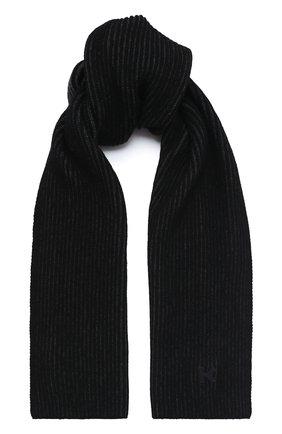 Мужской шерстяной шарф KENZO темно-серого цвета, арт. FA68EU717KEJ | Фото 1