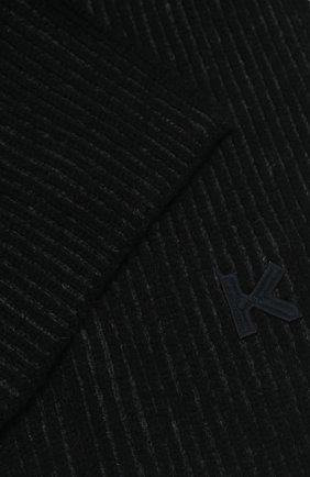 Мужской шерстяной шарф KENZO темно-серого цвета, арт. FA68EU717KEJ | Фото 2