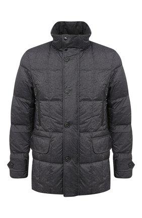 Мужская пуховая куртка PAUL&SHARK серого цвета, арт. I20P2140/HWG   Фото 1