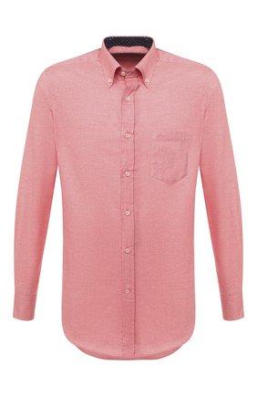 Мужская хлопковая рубашка PAUL&SHARK розового цвета, арт. I20P3064/C00 | Фото 1