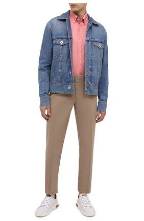 Мужская хлопковая рубашка PAUL&SHARK розового цвета, арт. I20P3064/C00 | Фото 2