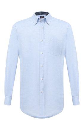 Мужская хлопковая рубашка PAUL&SHARK голубого цвета, арт. I20P3064/C00 | Фото 1