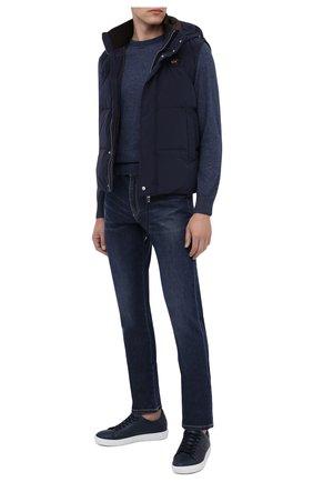 Мужские джинсы PAUL&SHARK синего цвета, арт. I20P4201/CYB | Фото 2