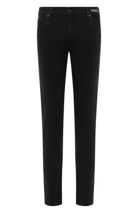 Мужские джинсы PAUL&SHARK черного цвета, арт. I20P4210/CYB | Фото 1