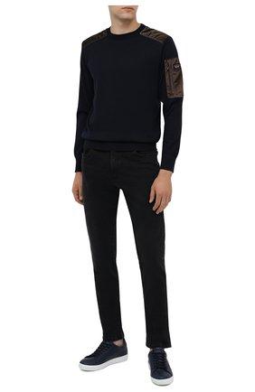 Мужские джинсы PAUL&SHARK черного цвета, арт. I20P4210/CYB | Фото 2