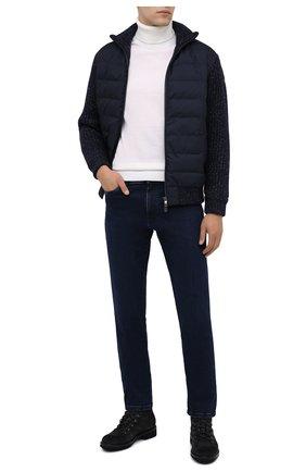 Мужские джинсы PAUL&SHARK темно-синего цвета, арт. I20P4210/CYB | Фото 2