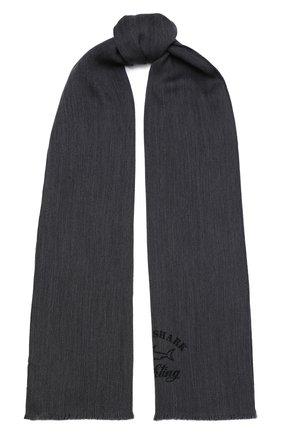 Мужской шерстяной шарф PAUL&SHARK серого цвета, арт. I20P7010/F9G   Фото 1