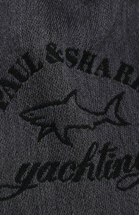 Мужской шерстяной шарф PAUL&SHARK серого цвета, арт. I20P7010/F9G   Фото 2