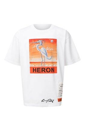Мужская хлопковая футболка HERON PRESTON белого цвета, арт. HMAA019F20JER0150120 | Фото 1