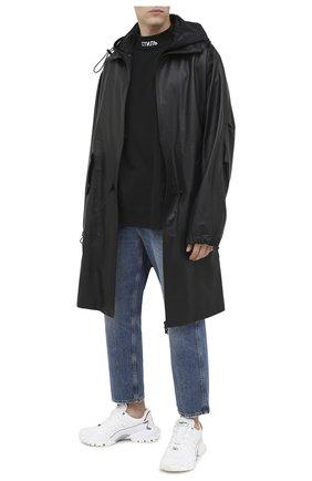 Мужская хлопковая футболка HERON PRESTON черного цвета, арт. HMAA021F20JER0011001 | Фото 2