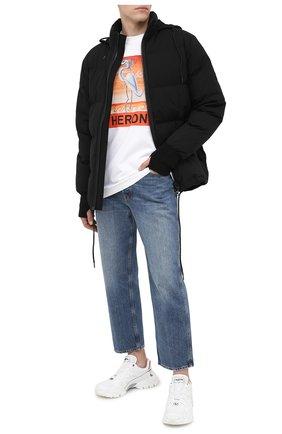 Мужская хлопковый лонгслив HERON PRESTON белого цвета, арт. HMAB015F20JER0100120 | Фото 2