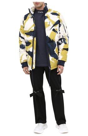 Мужская хлопковый лонгслив HERON PRESTON темно-синего цвета, арт. HMAB017F20JER0014501 | Фото 2